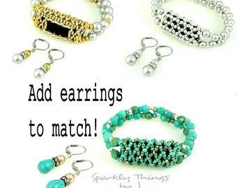 Earrings to Match SparklyThingsByJ FitBit Bracelets and Pendants, Choose Style and Quantity - Discount Pricing for 2 or more pairs!