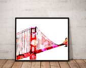Golden Gate Bridge art pr...