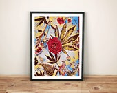 botanical art print / mar...