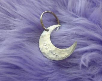 Aluminum Moon Child Keychain