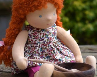"Waldorf Doll 14"" Tall, Ginger ( made to order )"