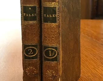 Antique Books, Tales of the Genii, 1794, Two Volumes by Sir Charles Modrell, Leather Books, Horam, Son of Asmar, Beautiful Books, Book Set