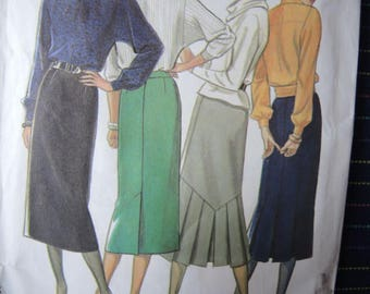 vintage 1990s New Look sewing pattern 6763 misses set of skirts size 8-14