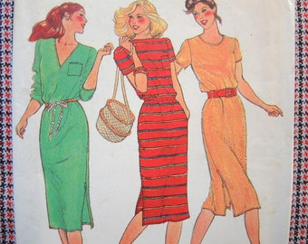 vintage 1980s Butterick sewing pattern 3040 Misses fitted dress size  small 8-10 UNCUT