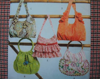 2000s sewing pattern Butterick 4822 Fashion Handbags one size