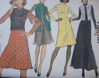 vintage 1970s Vogue sewing pattern 8421 misses dress jacket size 12