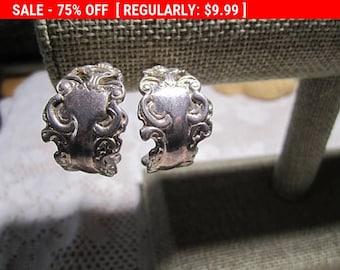 Premier Designs Silvertone earrings, vintage earrings