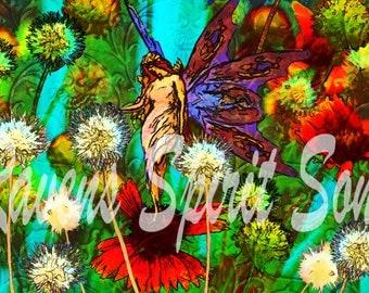 Flower Fairy /digital print