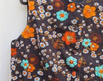 Sleeveless Floral 60's Dress