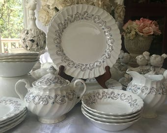 Lovely Johnson  Bros Regency Encore Ironstone Dinnerware Set made in England  29 pieces