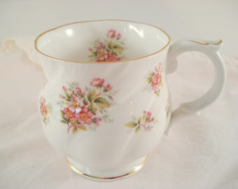 Vintage Teacup Mug Queen's Bone China England Apple Blossom Countryside Series Floral Teacup Coffee Mug
