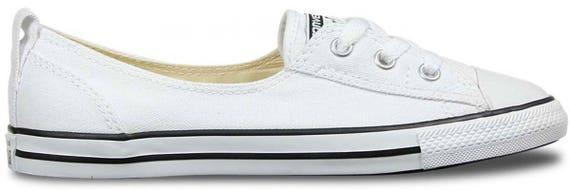 Custom White Black Low Top Slip On Converse Ballet Lace Wedding Bridal w/ Swarovski Crystal Chuck Taylor Rhinestone All Star Trainers Shoes