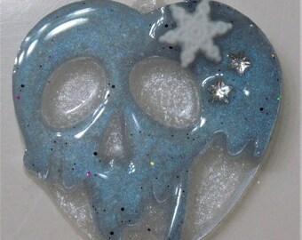 Winter Snowflake Poison Apple Pendant