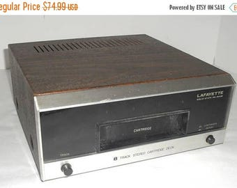 ON SALE Vintage 1970s Lafayette Model RK-800B Stereo 8-Track Player Deck Component Refurbished and Ready to Play!