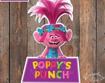 Trolls Poppy Labels Label Digital Download