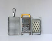 Choice of Three Vintage Graters, Cheese Potato Shredders, Metal Acme and Swedish Graters, Primitive Kitchenalia, Farmhouse Photo Prop