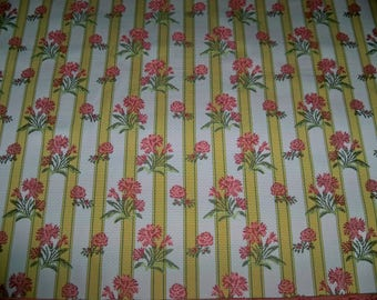 LEE JOFA KRAVET Caitlin Floral Stripes Brocade Fabric 10 Yards Jasmine