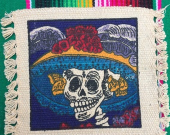 Dia de Los Muertos Coasters Set of 4