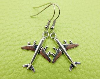 Airplane Earrings stainless steel