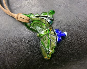 Glass butterfly Necklace jewelry