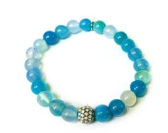 SALE 6mm Bracelet | Sky Blue