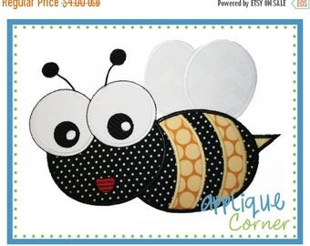 40% OFF INSTANT DOWNLOAD Bumble Bee with Wings applique design in digital format for embroidery machine by Applique Corner