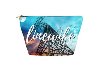 Linewife Accessory Pouch, Make-Up Bag for Lineman's Wife
