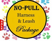 Sale - 30% Off No Pull Harness & Leash Package - Dog Harness Set - Available in all Dog Collar Listings - Fabric name