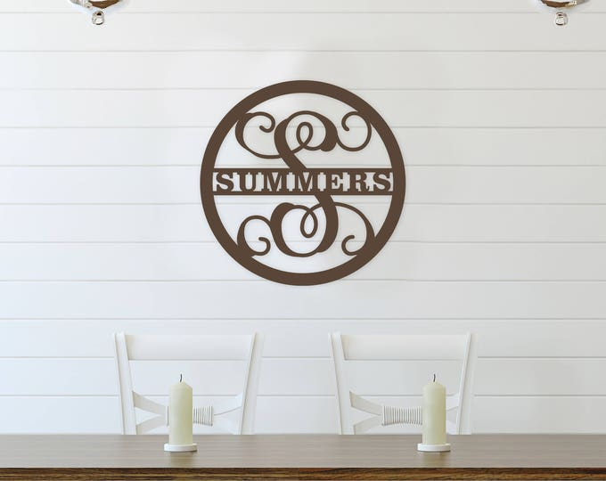 Wooden Family Monogram