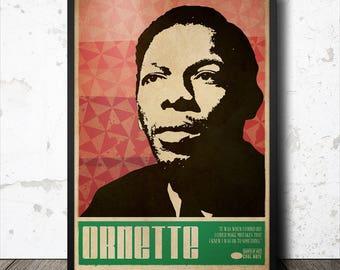 Ornette Coleman Jazz Art Poster