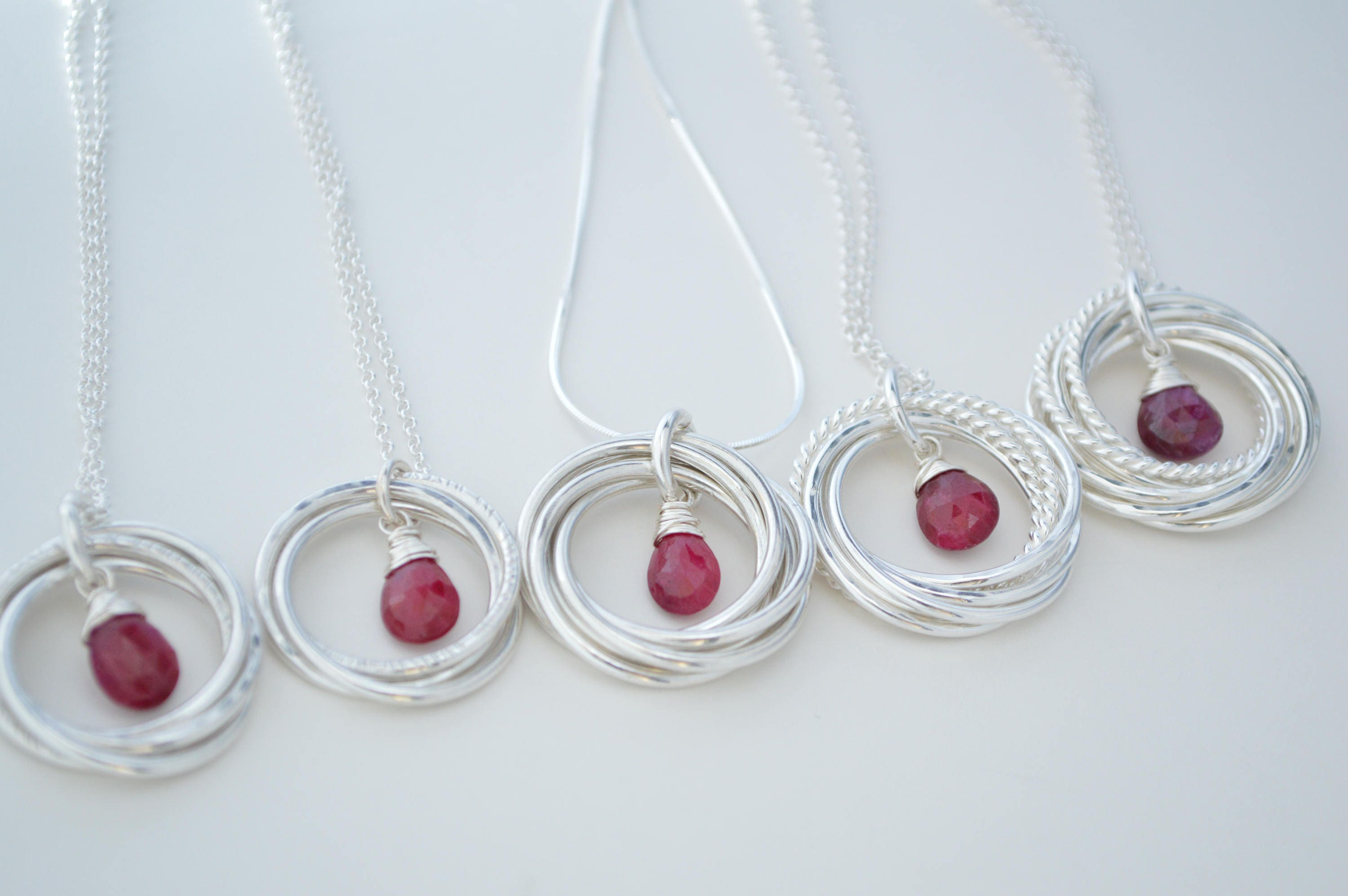 40th Birthday Gift For Women, Sister Jewelry, Ruby