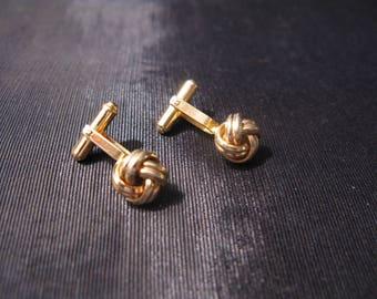 Cufflinks Vintage Wedding Jewelry, Love Knots Cuff Links For Groom Wedding Vintage