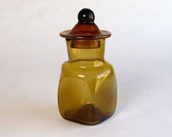 Hand Blown Lidded Glass Jar
