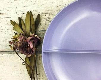 SUMMER SALE Vintage Purple Royalon Divided Bowl