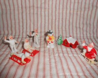 Vintage Miniatures For Christmas Dioramas