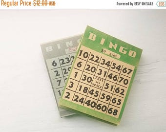ON SALE Vintage Bingo Cards, Paper Pads, Mid Century 1960's Bingo tear sheets, Crafts, Retro, Collectible, Nostalgia, Family Game Night Fun,