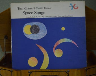 Vintage Record Tom Glazer & Dottie Evans: Space Songs Album MR-0312