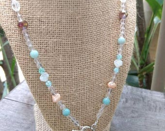 Hawaiian Flea Cone Shell Beaded Necklace