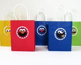 Sesame Street Favor Bags - SMALL - Set of 10