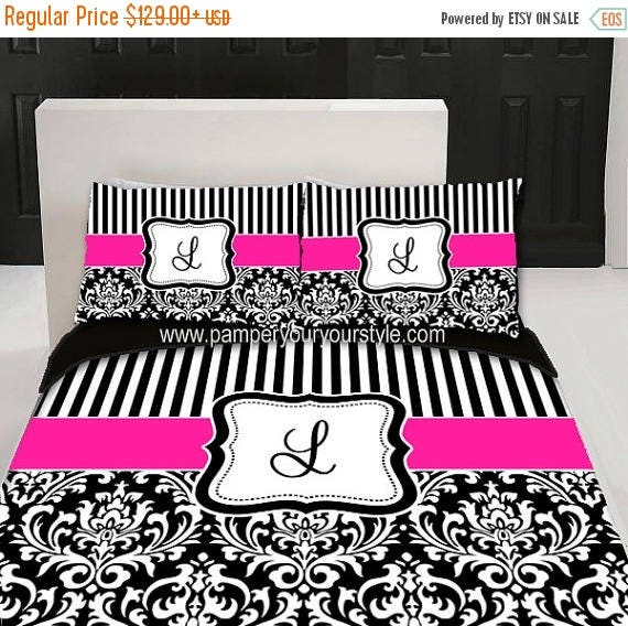 On Sale Custom Damask And Stripe Bedding Duvet Cover And