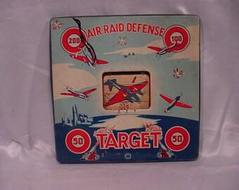 Antique Air Raid Defense Toy Target, Wyandotte Toys