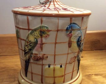 Rare Musical Bird Cage Cookie Jar