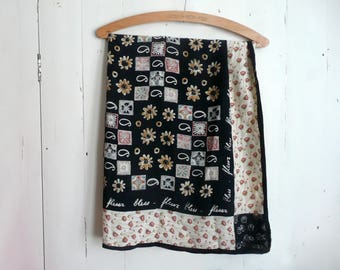 Liberty silk scarf - Italian silk scarf - vintage Liberty silk scarf - Liberty of London silk scarf - hand rolled Liberty print silk scarf