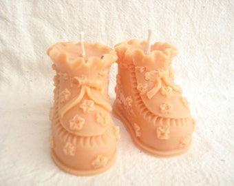 Candles, 1 pair of slippers orange fragrance lemon