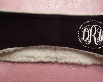 Custom headband, monogram, winter, ear warmer, winter headband, outdoor wear, Christmas gift, custom monogrammed headband