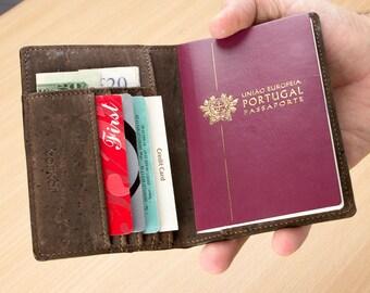 Passport Wallet RFID Blocking - Sustainable Vegan Wallet for Men & Women - Thin Passport Wallet - Cool Unique Gifts (CK244)