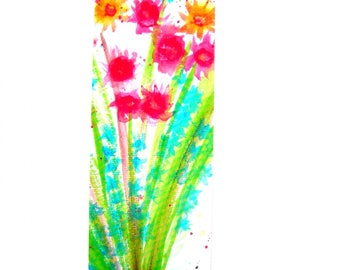 "Bookmark ""Bouquet"", printed with my drawing."