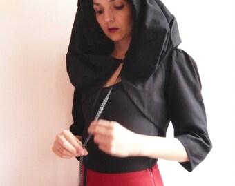 Bolero black cap with 3/4 sleeves