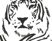 White Tiger Digitized Machine Embroidery Design Animals