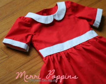 Little Red Dress, Annie Inspired dress up, Lil orphaned Annie Inspired, Peterpan Collared dress, Tomorrow I love YA!, Day Away dress